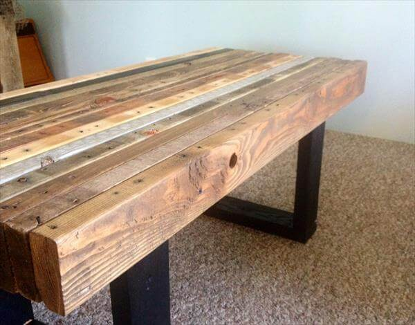 ... table and bench diy scorched pallet coffee table reclaimed pallet