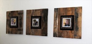 handcrafted pallet picture frame
