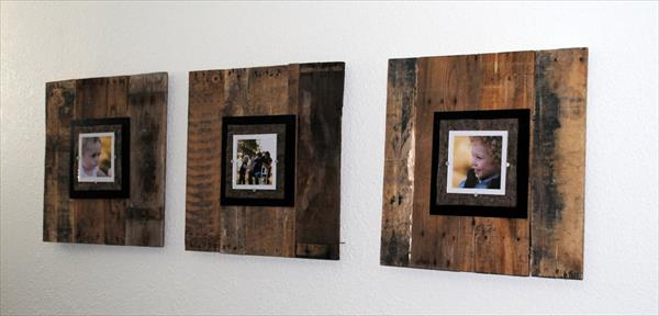 Diy Pallet Picture Frame Pallet Furniture Diy