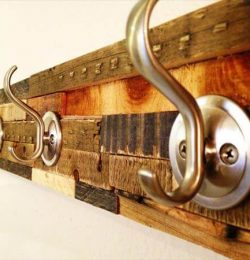 upcycled pallet coat rack