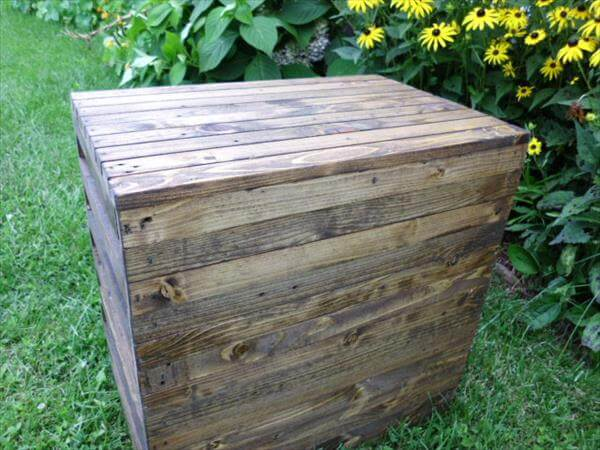 rustic pallet end table and nightstand