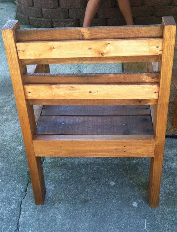 diy pallet rustic chair
