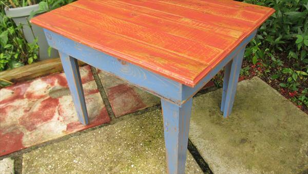 reclaimed pallet coffee and side table