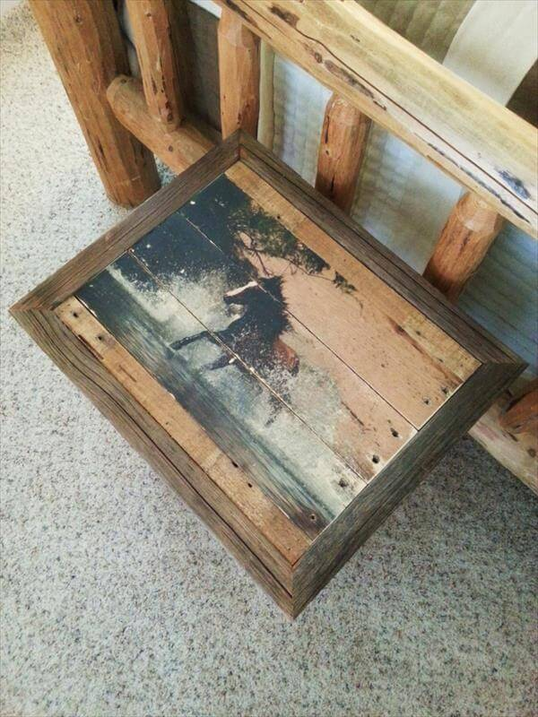 handmade pallet end table