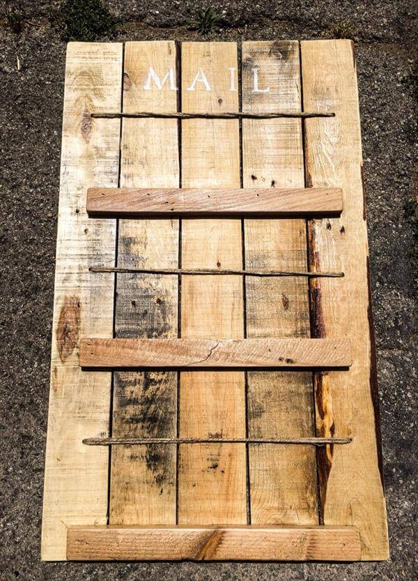 home entry wall pallet mail organizer