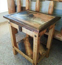 pallet miniature side table