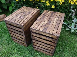 recycled pallet side tables and nightstands