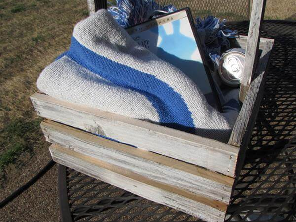 recycled pallet storage basket