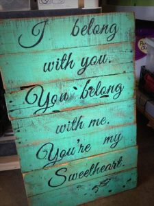 recycled pallet wall sign