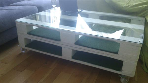 upcycled pallet white coffee table