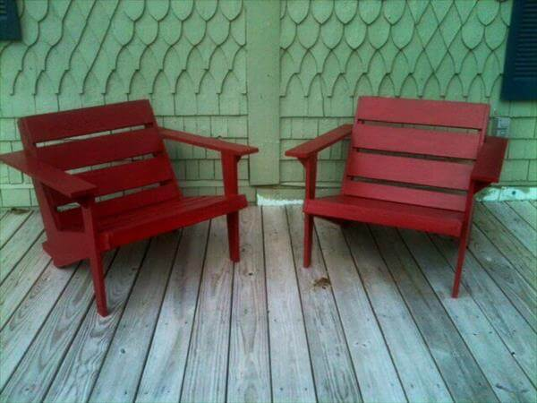 diy pallet adirondack chairs
