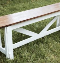 chic white repurposed pallet bench