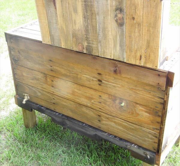 resurrected pallet outdoor cooler
