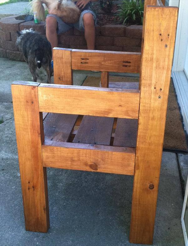 upcycled pallet rustic chair