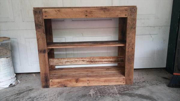 handcrafted pallet media table