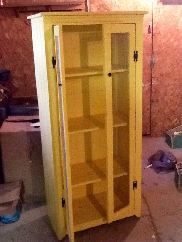 wooden pallet kitchen cabinet diy