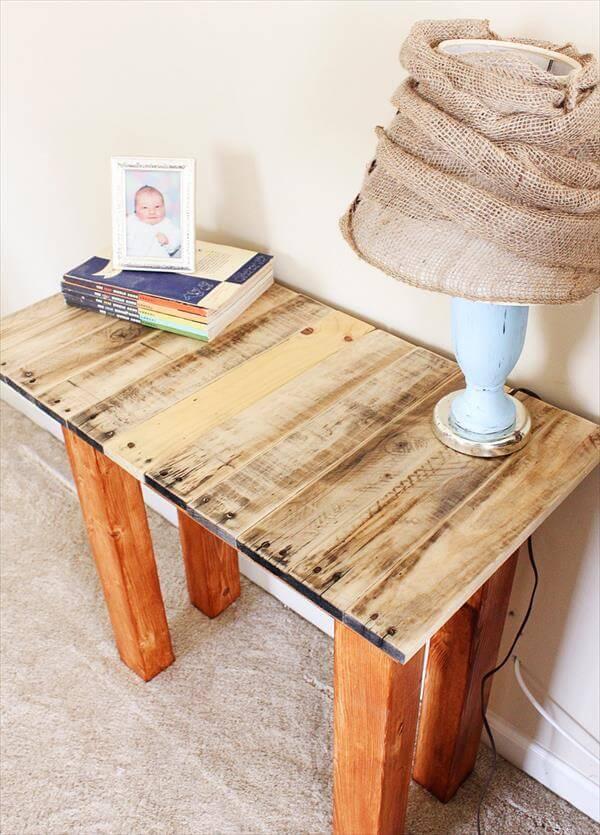 reclaimed pallet hallway table