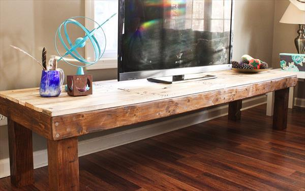 upcycled pallet TV stand