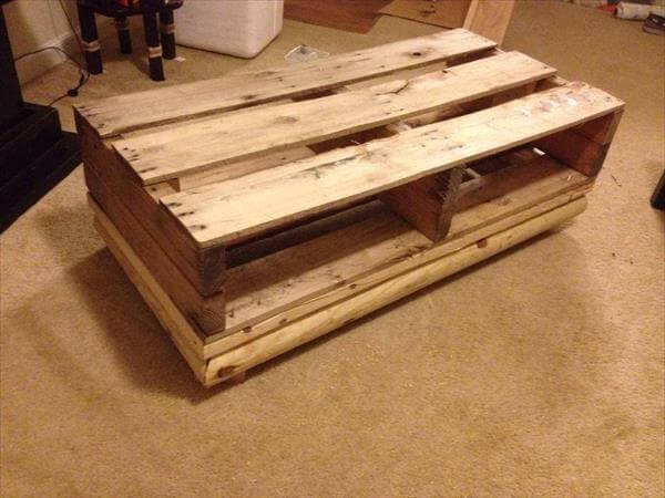 ultra rustic pallet coffee table