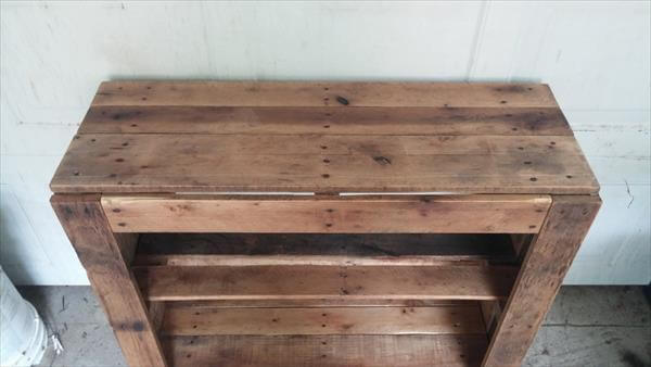 highly rustic pallet entertainment center