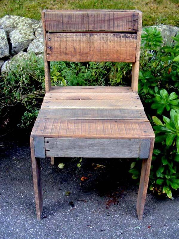 DIY Pallet Outdoor Armless Chair Pallet Furniture DIY