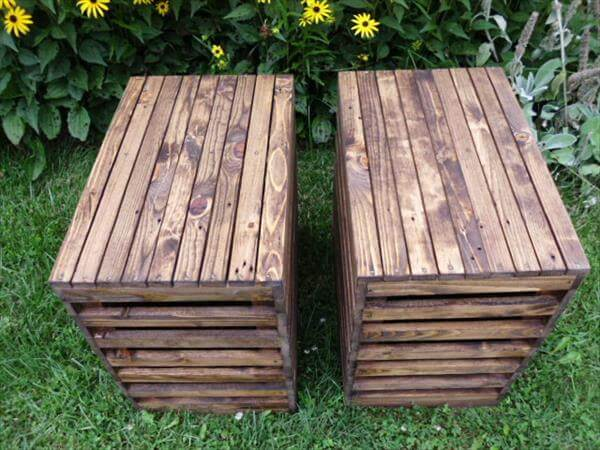 handcrafted pallet nightstands and side tables