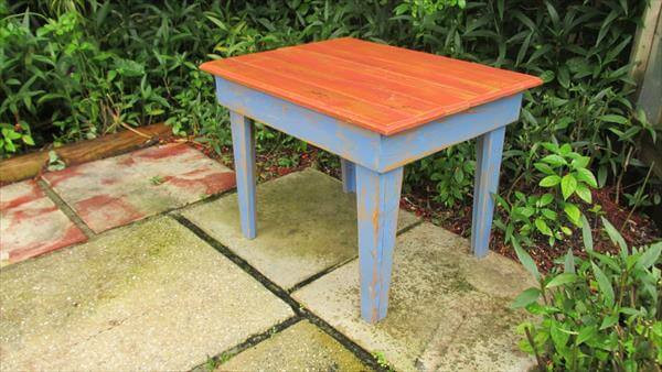 chic pallet coffee table and side table