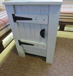 upcycled pallet white floor cabinet