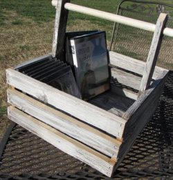 handcrafted pallet basket