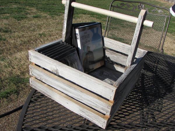 handcrafted pallet basket