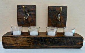 rustic pallet candle votive and e single hooks