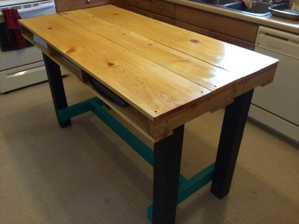 upcycled pallet kitchen table