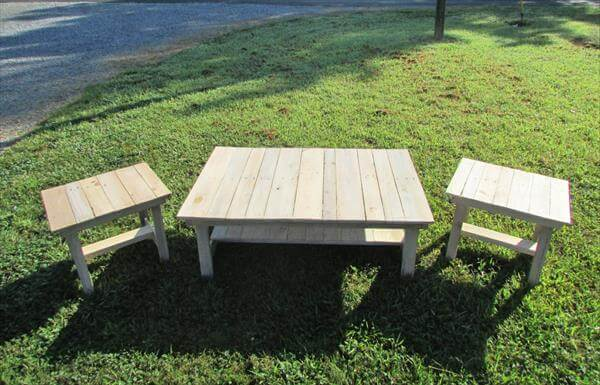 Pallet Coffee Table End Tables Patio Set