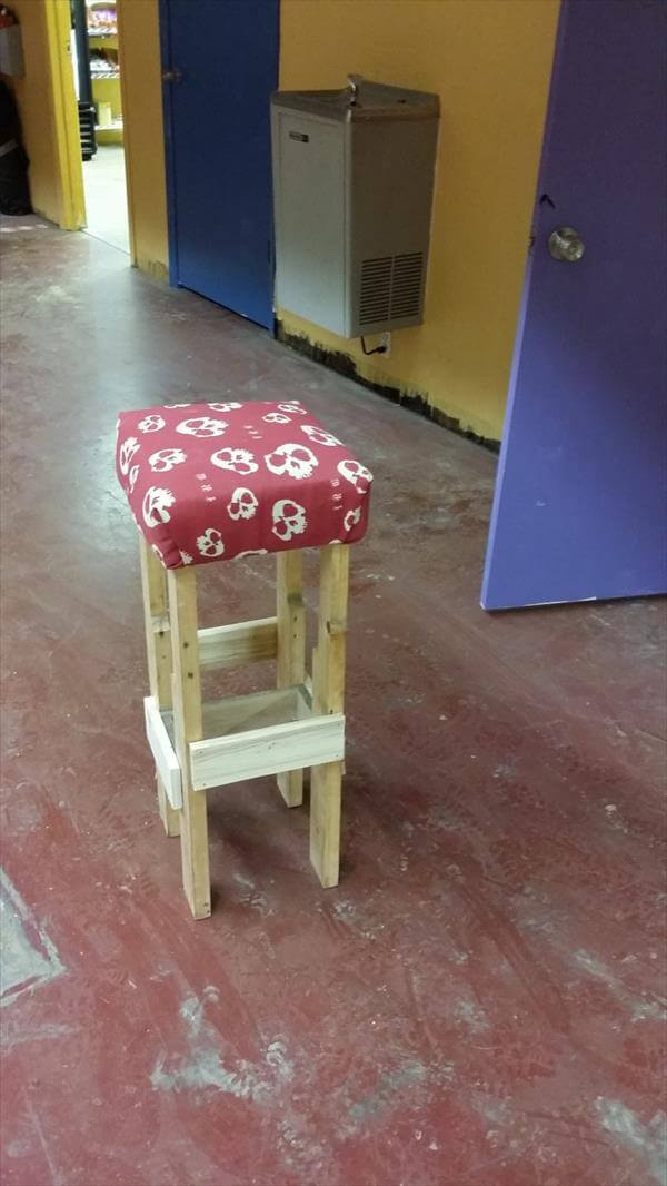 resurrected pallet stool