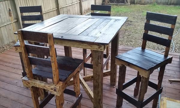 DIY Pallet Dining Table Design Pallet Furniture DIY