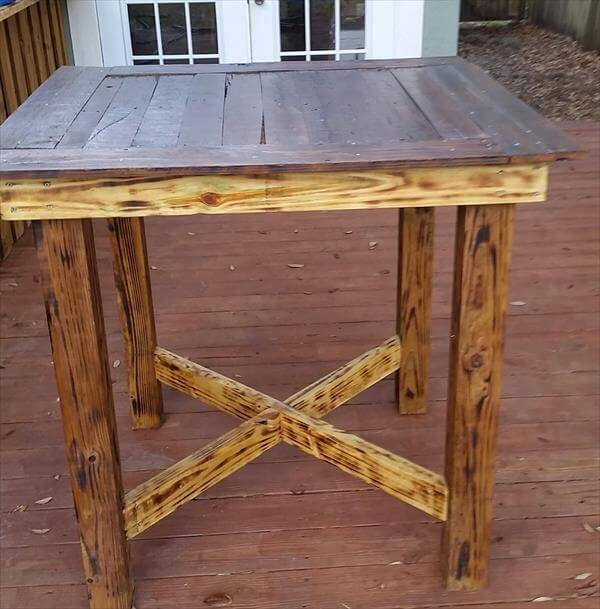 diy pallet dining table design pallet furniture diy. Black Bedroom Furniture Sets. Home Design Ideas