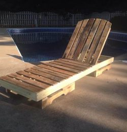 recycled pallet outdoor lounge chair