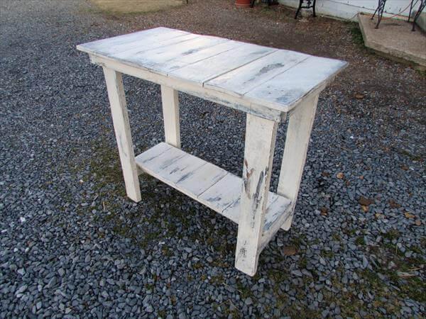 diy distressed white sofa side table - White Sofa Table
