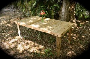 recycled pallet wood dining table