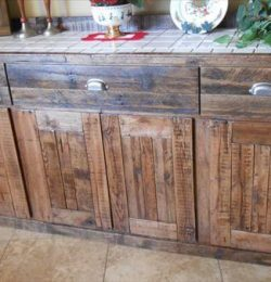 recycled pallet wood side board