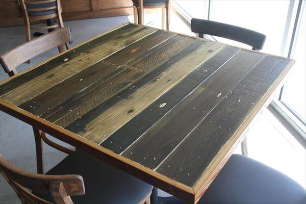 recycled pallet table top