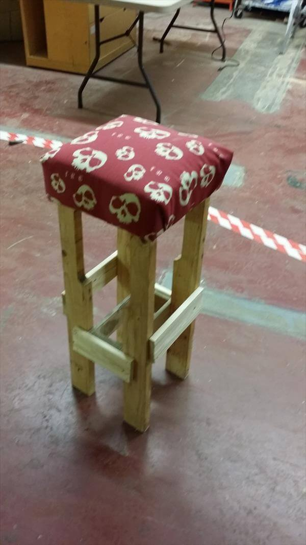 diy pallet pirate stool