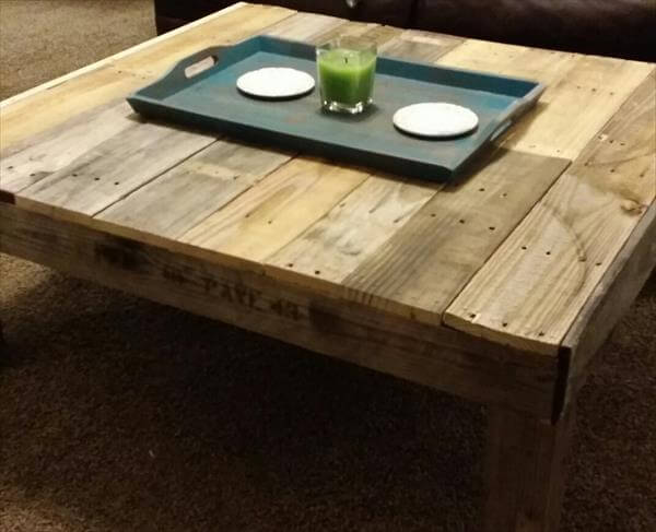 Coffee Table Diy Wood Pallet Coffee Table Side Table Reclaimed Beefy