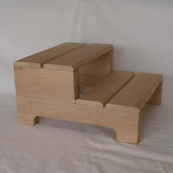 Wood Recycled Pallet Stool End Table Diy Mini Step