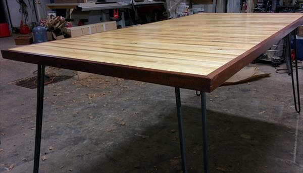 handcrafted modern kitchen table