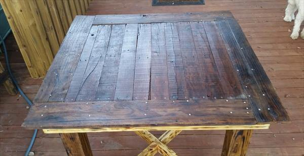 reused pallet dining table