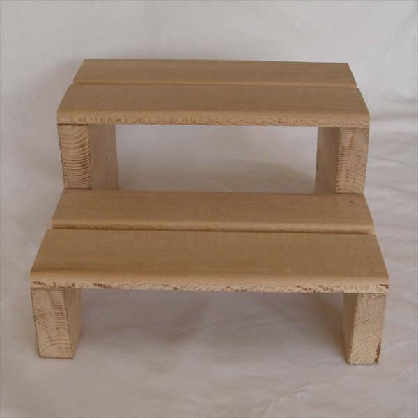 wooden pallet step stool diy
