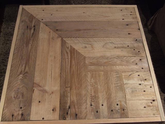 reclaimed pallet wood and steel legs table pallet