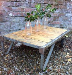 rustic industrial pallet coffee table