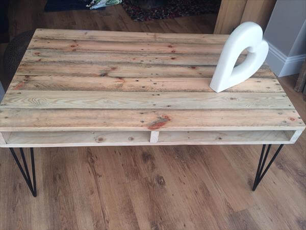 upcycled pallet industrial pallet vintage coffee table